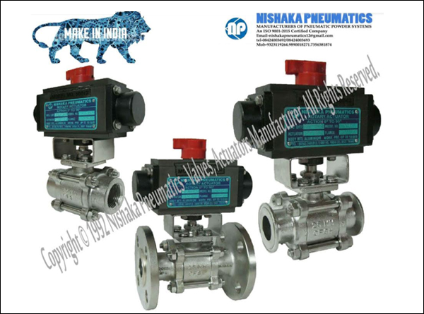 Ball Valve With Actuators